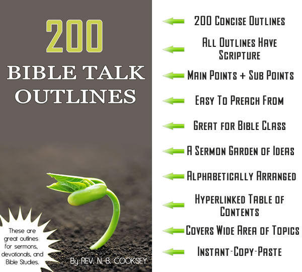 200 Bible Talk Outlines | Sermon Seedbed - Sermons and Sermon Outlines